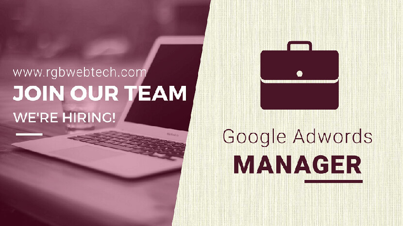 Google Adwords Manager Job Openings