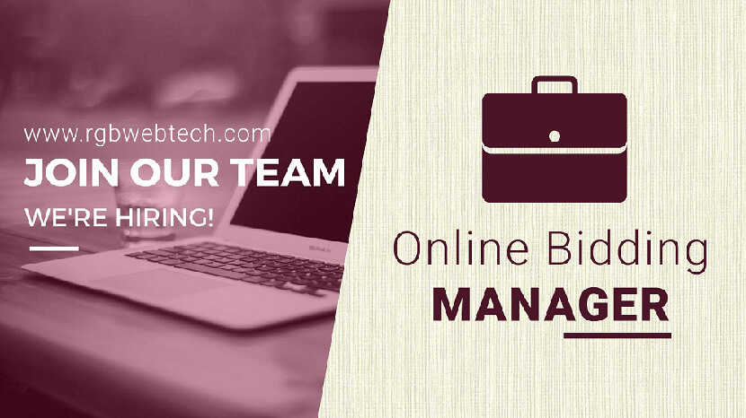 Online Bidding Manager Job Openings