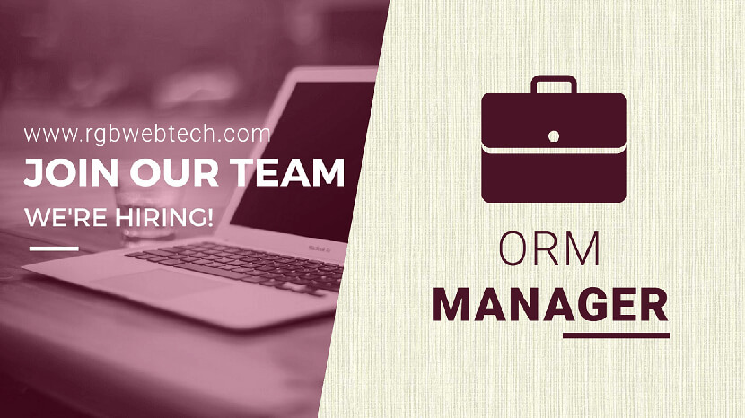 Online Reputation Management Manager Job