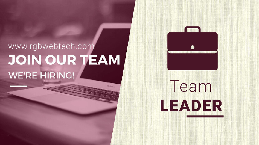 Team Leader Job Openings
