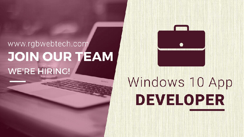 Windows 10 App Developer Job