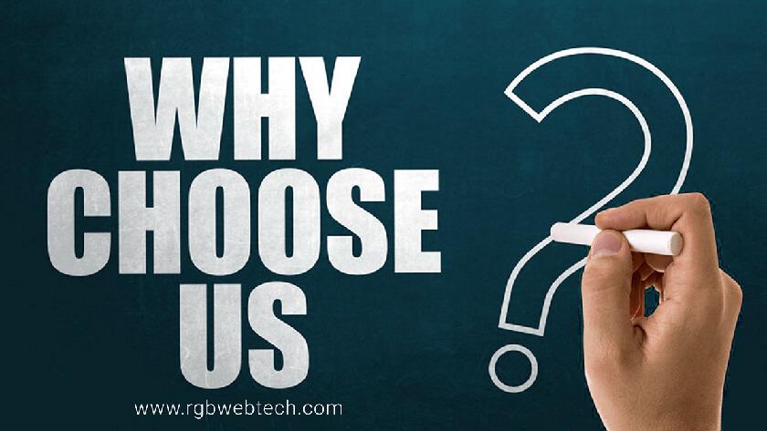 Why choose RGB Webtech?