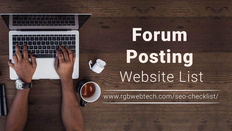 Forum Posting Website List