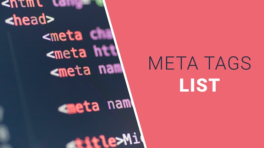 List of Meta Tags