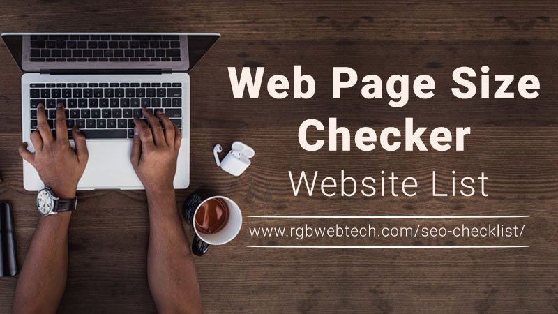 Web Page Size Checker Website List